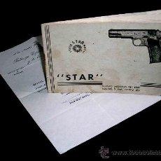 Militaria: DOCUMENTO AÑO 1963 ENTREGA DE PISTOLA STAR, FDO. FERNANDO SÁNCHEZ PONSETI, J.O.N.S. + CATÁLOGO 1941.. Lote 27134696