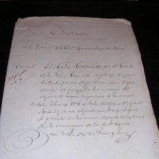 Militaria: CARPERA MANUSCRITA 4 DOCUMENTOS,CORBETA DE GUERRA CONSUELO,1879-1880,CADIZ SAN FERNANDO, VER FOTOS. Lote 25908916