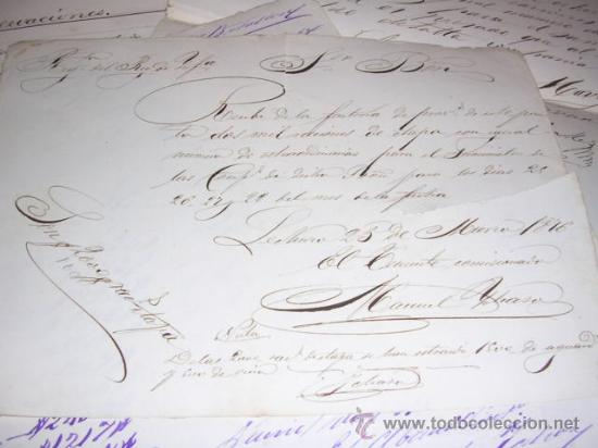 Militaria: GUERRA DE CUBA, CARPETA CON MANUSCRITOS,11, REGIMIENTO DEL REY INFANTERIA 1er. BATALLON,1876 - Foto 2 - 27641422
