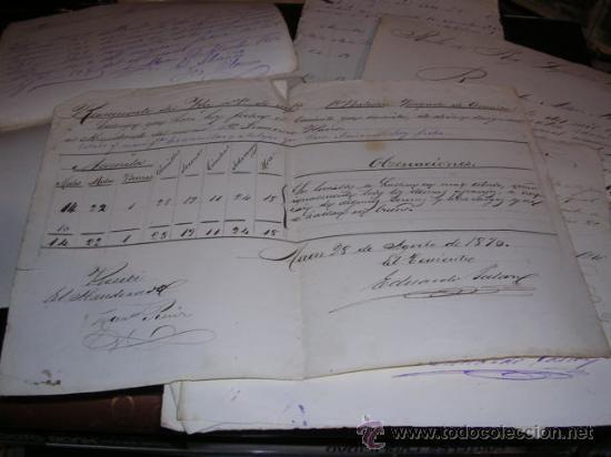 Militaria: GUERRA DE CUBA, CARPETA CON MANUSCRITOS,11, REGIMIENTO DEL REY INFANTERIA 1er. BATALLON,1876 - Foto 3 - 27641422