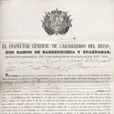 Militaria: GRATIFICACION DEL CUERPO DE CARABINEROS. 1866 ISABEL II SIGLO XIX. Lote 26981289