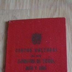 Militaria: CARNET SOCIO CENTRO CULTURAL DE LOS EJERCITOS, DE TIERRA, MAR Y AIRE, MELILLA ENERO 1960. Lote 27653039