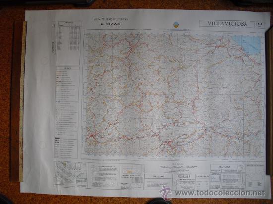MAPA MILITAR DE ESPAÑA 1:50000 VILLAVICIOSA 14-4 (30) (Militar - Propaganda y Documentos)