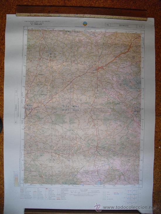 MAPA MILITAR DE ESPAÑA 1:200000 BURGOS 5-3 (Militar - Propaganda y Documentos)