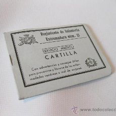 Militaria: CARTILLA DEL SERVICIO MEDICO DEL REGIMIENTO DE INFANTERIA EXTREMADURA NUMERO 15. Lote 179228061