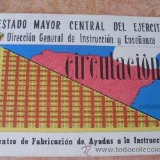 Militaria: CONJUNTO DE LAMINAS DE CIRCULACION,ESTADO MAYOR CENTRAL DEL EJERCITO,AÑO 1967. Lote 28392826