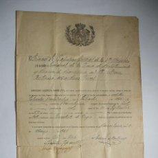 Militaria: CAPITAN GENERAL 4ª REGIÓN - 1921. Lote 28633396
