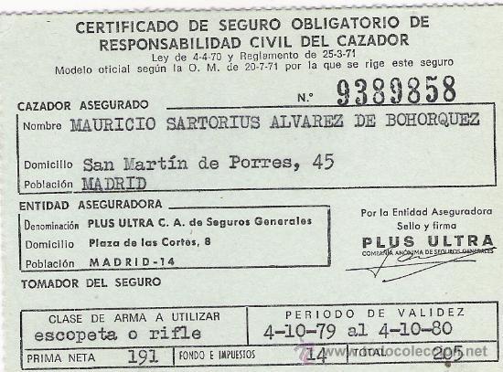 Certificado de seguro obligatorio de responsabi comprar for Seguro responsabilidad civil autonomos obligatorio