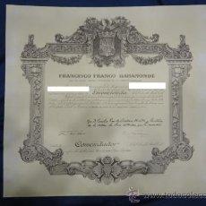 Militaria: CONCESIÓN DE LA CRUZ DE COMENDADOR DE LA ORDEN DEL MÉRITO CIVIL 1975.. Lote 28940054