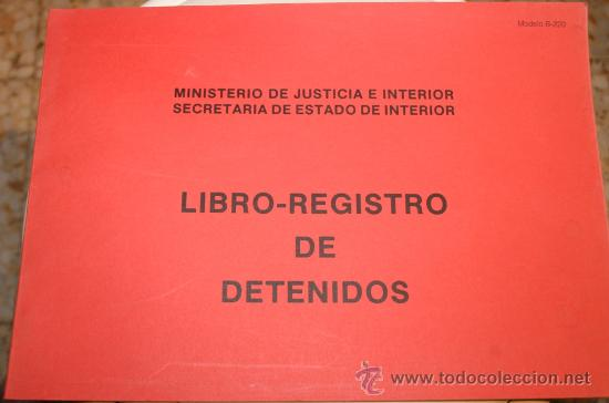libro registro de detenidos ministerio de just comprar