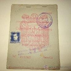 Militaria - CARTILLA DE CUPONES DE RACIONAMIENTO.SEGUNDA CATEGORIA.PRIMER SEMESTRE 1952 - 29058934