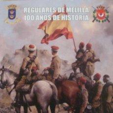 Militaria: PRECIOSA PEGATINA MILITAR. FUERZAS REGULARES A CABALLO. REGULARES 52. COMANDANCIA MELILLA. . Lote 29683875