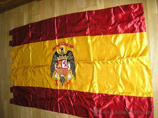 Bandera espa ola con aguila de san juan bordad comprar propaganda militar y documentos - Comprar tela online espana ...