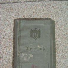Militaria: WEHRPAS ORIGINAL ALEMAN IIWW HEER. Lote 29196773