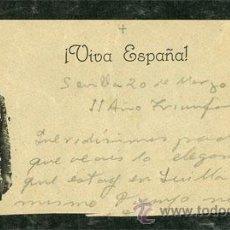 Militaria: RECORTE CARTA CON IMAGEN DE FRANCO SEVILLA MARZO 1938 GUERRA CIVIL (VER SELLOS EN VENTA). Lote 29441270