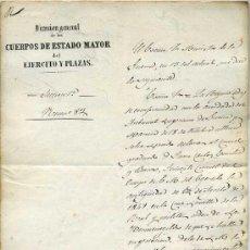 Militaria: ESTADO MAYOR DEL EJÉRCITO Y PLAZAS (1854) . Lote 29549819