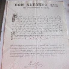 Militaria: CONCECION DE EMPLEO DE TENIENTE DEL EJERCITO A CAPITAN DE LA GUARDIA CIVIL. ALFONSO XII . 1881 , . Lote 29626293