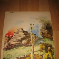 Militaria: CARTEL COMBATE GUERRA CIVIL.AROZTEGUI 37 PERTENECE A LA REVISTA VERTICE Nº EXTRAORDINARIO DE 1937. Lote 29712953