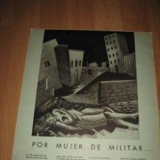 Militaria: POR MUJER DE MILITAR....GINES ALBAREDA HOJA REVISTA VERTICE Nº EXTRAORDINARIO DE 1937. Lote 29720398