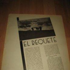 Militaria: EL REQUETE HOJA REVISTA VERTICE Nº EXTRAORDINARIO DE 1937. Lote 29720922