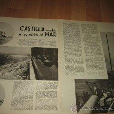Militaria: CASTILLA VUELVE SU ROSTRO AL MAR HOJA REVISTA VERTICE Nº EXTRAORDINARIO DE 1937. Lote 29721296