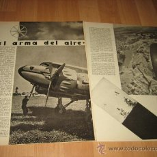 Militaria: EL ARMA DEL AIRE POR JUAN ANTONIO ANSALDO 2 HOJAS REVISTA VERTICE Nº EXTRAORDINARIO DE 1937. Lote 29721509