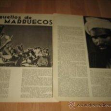 Militaria: AQUELLOS DE MARRUECOS POR TOMAS BORRAS 2 HOJAS REVISTA VERTICE Nº EXTRAORDINARIO DE 1937. Lote 29721546