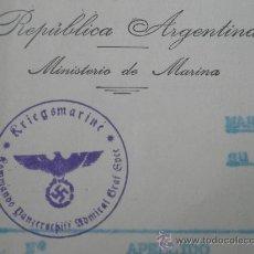 Militaria: DOCUMENTO ORIGINAL MARINEROS ADMIRAL GRAF SPEE,SELLO. Lote 30187771