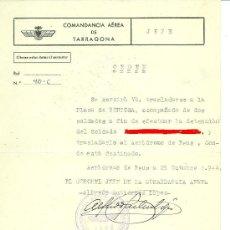 Militaria: + EJERCITO DEL AIRE AERODROMO DE REUS. DOCUMENTO BUSQUEDA DE PROFUGO DE TORTOSA, AÑO 1944. Lote 30245615