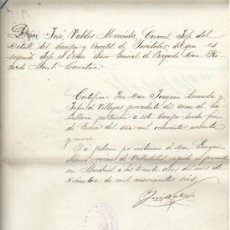Militaria: 1906 MADRID DOCUMENTO FIRMADO CORONEL DEL CUERPO INVALIDOS EJERCITO JOSE VALDES MENENDEZ . Lote 30808175