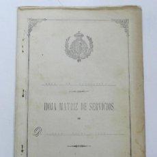 Militaria: CUADERNO HOJA MATRIZ DE SERVICIOS MILITARES, ARMA DE INFANTERIA, AÑOS DESDE 1916-31, REDACTADO EN EL. Lote 31067497