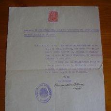 Militaria: CURIOSO DOCUMENTO DE 1939: CERTIFICADO DE INTACHABLE CONDUCTA. Lote 31222002