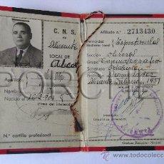 Militaria: 1 CARNET DE LA CENTRAL NACIONAL SINDICAL- ALCOY-ESPECTACULOS CINEMATOGRAFÍA-. Lote 31296893