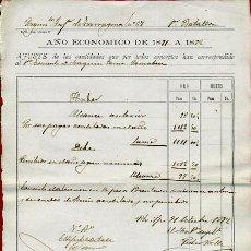 Militaria: DOCUMENTO MILITAR 1891 1892 , REGIMIENTO INFANTERIA TARRAGONA , ORIGINAL , FA5. Lote 31414688