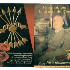 Militaria: POSTAL CALENDARIO 2002 - FRANCO ESPAÑA FALANGE. Lote 31589884