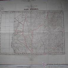 Militaria: CARTOGRAFIA MILITAR DE ESPAÑA PLANO DIRECTOR 1/25000 SAN PEDRO. Lote 31579709
