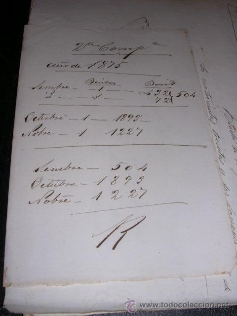 Militaria: DOCUMENTOS AUTOGRAFOS MANUSCRITOS GUERRA DE CUBA REG. DEL REY 1er BAT. 2ª COMPAÑIA 1875 - Foto 2 - 31712475