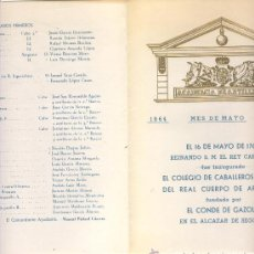 Militaria: ORDEN DEL DÍA 16 DE MAYO DE 1964 Y SERVICIOS PARA EL DÍA 17. ACADEMIA DE ARTILLERÍA.. Lote 31753015