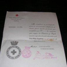 Militaria: GUERRA CIVIL SANIDAD MEDICINA CRUZ ROJA ESPAÑOLA COMITE CENTRAL MADRID 12 DIC. 1936 SOCIO DE NUMERO. Lote 31879369