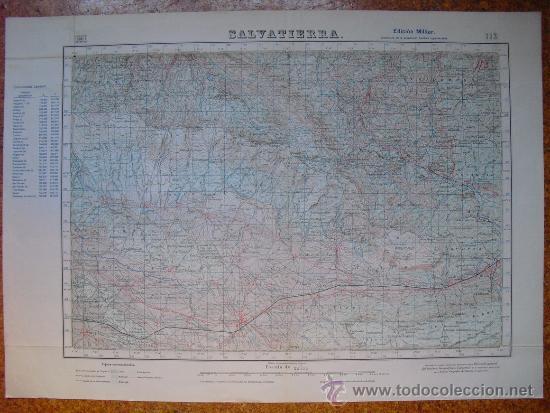 1954 SEGUNDA EDICION MILITAR DEL MAPA DE SALVATIERRA E 1:50000 (Militar - Propaganda y Documentos)