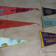 Militaria - Lote de 6 antiguos banderines militares. banderin, bandera. - 31961313