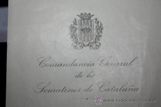 Militaria: DOCUMENTOS DE SOMATENES CATALANES-IGUALADA - Foto 2 - 32116797