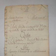 Militaria: SEPARACION Y DIVORCIO DE MATRIMONIO - SEVILLA - 1831 - CAPITAN D.FRANCISCO DE LA CUESTA. Lote 32146469