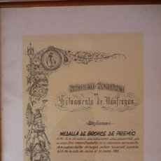Militaria: (JX-187)CONCESION DE MEDALLA DE SALVAMENTO DE NAUFRAGOS CATEGORIA BRONCE. Lote 32197340