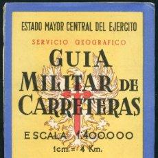 Militaria: GUIA MILITAR DE CARRETERAS. Lote 32218650