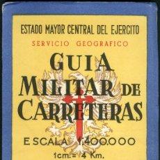 Militaria: GUIA MILITAR DE CARRETERAS. Lote 32218824