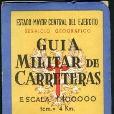 Militaria: GUIA MILITAR DE CARRETERAS. Lote 32219058