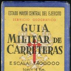 Militaria: GUIA MILITAR DE CARRETERAS. Lote 32219082