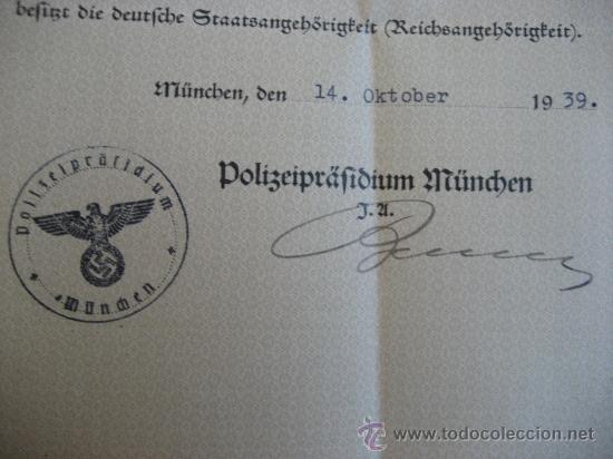 Militaria: DOCUMENTO ORIGINAL ALEMANIA WW2 100 %100 AUTÉNTICO NSDAP - Foto 2 - 32237620