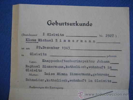 Militaria: DOCUMENTO ORIGINAL ALEMANIA WW2 100 %100 AUTÉNTICO NSDAP - Foto 2 - 32237645